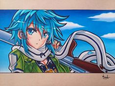 Sinon Ggo, Kirito, Sword Art Online, Online Art, Asada Shino, Manga Drawing, Anime Characters, Hero, Artemis