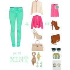 Hot Pink & Mint Pants.