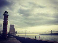 Lisbon Portugal  #river #tagus #25deabrilbridge #padraodosdeacobrimentos @lighthouse #lisbon #portugal  #iphone #iphoneography #iphone6splus #photooftheday #pictureoftheday #picoftheday #daily #dailypic #instadaily #groundingthedream #iamwhatisee #isabelnolascophotography