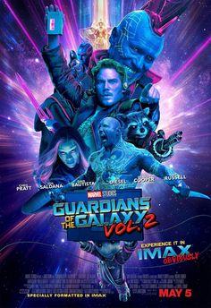 Les Gardiens de la Galaxie Vol. 2 : l'affiche IMAX sous lumière noire