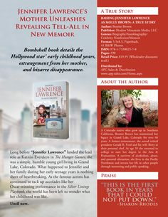 Book sell sheet version 2 for RAISING JENNIFER LAWRENCE AS MOLLY BROWN by Bonnie Brown