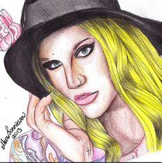 ♡ On Pinterest @ kitkatlovekesha ♡ ♡ Pin: Art ~ Ke$ha Drawing ♡