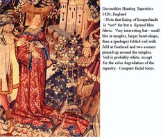 A summary of some heart-shaped henin pics Medieval Fashion, Medieval Clothing, 17th Century Clothing, Medieval Tapestry, Medieval Costume, Medieval Times, 15th Century, Middle Ages, Summary