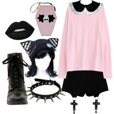 A fashion look from March 2016 featuring Chicnova Fashion shorts and Hot Topic boots. Browse and shop related looks. #GothicFashion