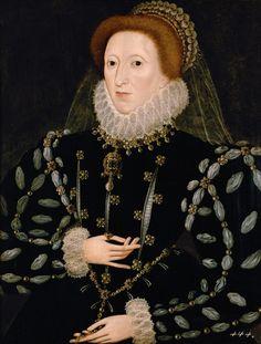 Elizabeth I of England. The Schloss Ambras Portrait, unknown artist, 1575–80