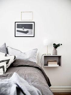 minimalist nightstand shelf to highlight the modern decor