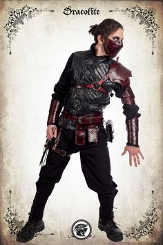 Complete rogue armor for LARP action roleplaying and by Dracolite