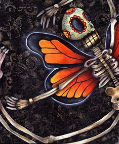 Art Spotlight: Day of the Dead Sugar Skulls (plus more) from Abril Andrade - Jinxi Boo - Jinxi Boo