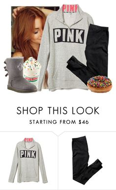 """""""You're on the phone with your girlfriend she's upset.."""" by morgantaylor37 ❤ liked on Polyvore featuring H&M, UGG Australia, women's clothing, women, female, woman, misses and juniors"""