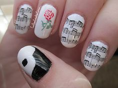 Phantom of the Opera nail art Cute Nails, Pretty Nails, Mani Pedi, Manicure, Hair And Nails, My Nails, Music Of The Night, Phantom Of The Opera, Cute Nail Designs