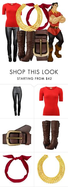 """""""Gaston"""" by dutchveertje ❤ liked on Polyvore featuring Thierry Mugler, Michael Kors, Liebeskind, Mojo Moxy, yunotme, disney, disneybound, BeautyandtheBeast, Gaston and disneycharacter"""