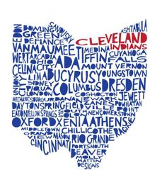 OHIO Cleveland Indians special edition print makes a great Christmas gift!