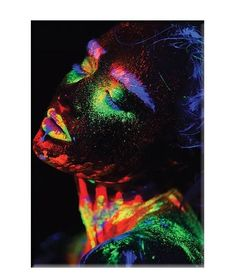Fashion Modern Woman Indian Canvas Prints Painting Black Girl Makeup Posters and Prints Scandinan Picture for Living Room Decor 1
