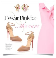 """""""I Wear Pink"""" by grrr8style ❤ liked on Polyvore featuring MSGM, Christian Louboutin and Betsey Johnson"""