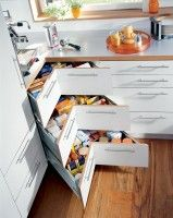 Forget the lazy susan — outfit your corners with drawers instead. From Glenvale Kitchens