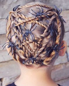 11 best Halloween Styling images on Pinterest   Halloween hairstyles     Style from last Halloween   twisted web with spiders  I m not