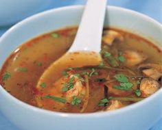 Nigella Lawson's Hot and Sour Soup; a bit different from the type with tofu.  It sounds good!