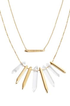 Find the rebellious girl in you with the Chunky Spike Cluster Necklace from Stella & Dot. Designed to be thy key, fashionable statement for your outfit.