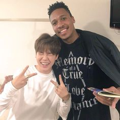 Tony came to visit BTS! How sweet.