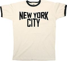 New York City Mens RINGER T-Shirt Camiseta Para Hombre Retro Style