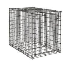 MidWest Starter Series Single-Door Drop-Pin Metal Dog Crate >>> Trust me, this is great! Click the image. : Crates, Houses and Pens for dogs Big Puppies, Big Dogs, Large Dogs, Small Dogs, Big Dog Crates, Large Dog Crate, Airline Pet Carrier, Dog Carrier, Xxxl Dog Crate
