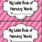 My Little Book of February Words