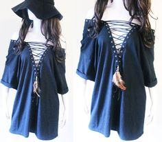 #laceup #shirt #tunic #dress #peacock