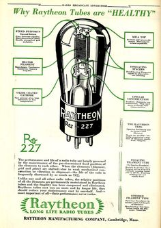 retro vintage modern hi-fi: Raytheon Long Life Radio Tubes 227
