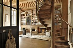 Quintessential cozy French library