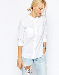Image 1 of ASOS Fitted Shirt in Twill
