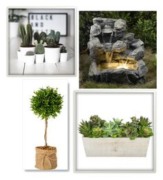 """Garden"" by elena-horror999 ❤ liked on Polyvore featuring interior, interiors, interior design, home, home decor and interior decorating"