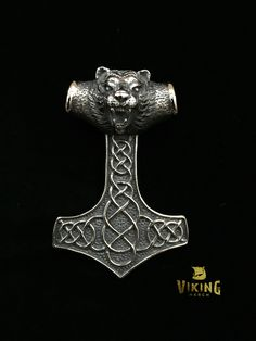 Huge Viking Bear Thor Hammer