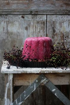 Elderberry Plum Ice Cream Cake | Tina's Tausendschön
