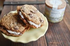 Oatmeal Chocolate Chip Pies with Salted Caramel Buttercream...SHUT THE FRONT DOOR!