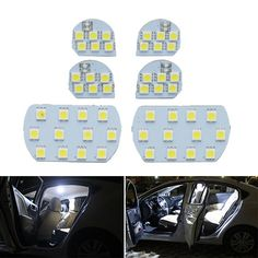 For PEUGEOT 206 307 308 3008 408 508 For CITROEN C5 Super Bright Led Interior Reading Light Lamp Interior Light 6pcs Per Set