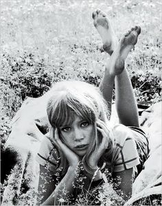 """Patti Boyd is an English model, photographer & author. She modeled in London, New York, & Paris (e.g. for Mary Quant). She appeared on Vogue's cover and wrote for 16 Magazine.     She is the former wife of musicians George Harrison and Eric Clapton, and was the inspiration for songs written by both:  """"Something"""", """"I Need You"""", """"For You Blue"""", """"Isn't It a Pity"""", """"Layla"""", """"Wonderful Tonight"""" and """"Bell Bottom Blues"""".[image] @siriah via Courtney Love [text] via wikipedia.org"""
