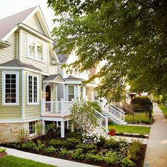 A fresh coat of paint is the most cost-effective way to update the exterior of your home. More ways to add color to your exterior: http://www.bhg.com/home-improvement/exteriors/curb-appeal/add-exterior-color/?socsrc=bhgpin072913paint=1