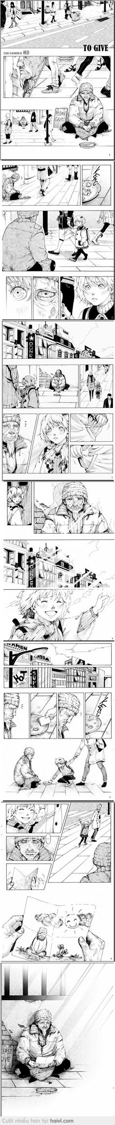 """""""To Give"""" - Red ( Việt Nam, of  Silent Manga Edition Contest)"""