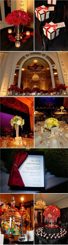 Gorgeous theatre wedding!