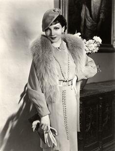 Claudette Colbert, 1934.