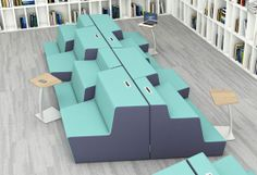 Nevins' Climb multi-level seating is designed beautifully for team collaboration. Rearrange the pieces to form a layout that fits your needs!