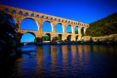 Pont du Gard. Roman aqueduct of Nîmes, in the south of France.