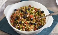 TESTED- totally different but yummy! blueberry farro salad