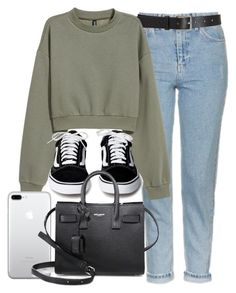 """""""Sin título #14539"""" by vany-alvarado ❤ liked on Polyvore featuring Topshop, Barneys New York, H&M and Yves Saint Laurent"""