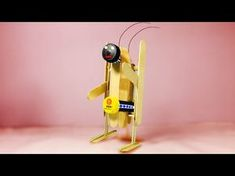 """This video I want to show you about """"How to make walking robot(DIY)- Powered Electric Walking Robot Using DC Motor - Very Simple Idea"""". Make A Robot, Diy Robot, Robots For Kids, Stem Projects, Science Projects, Cultura Maker, Robotics Projects, Robot Kits, Wooden Walking Sticks"""