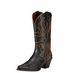 34c070ed69a Ariat Womens Heritage Western X Toe Western Cowboy Boot Old Black 9 B US