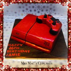 My Playstation 4 cake with controller of course.
