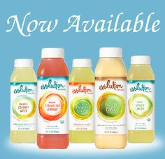 Evolution Fresh juices, now at Earthlight!
