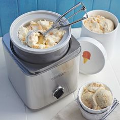 {cuisinart stainless-steel ice cream maker} I have been coveting this for years. $79.95