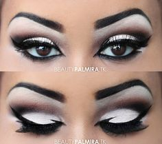 This shadow and liner shape is dramatic and gorgeous.